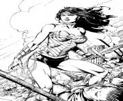 wonder woman by battinks dessin à colorier