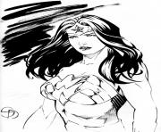 Coloriage wonder woman and superman by_miltonwiller dessin