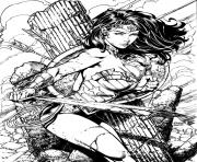Coloriage wonder woman pour adulte book dc comics