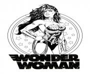 Coloriage wonder woman mandala doodle adulte dc comics dessin