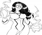 Coloriage spider woman par windriderx23 dc comics