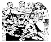 wonder woman justice league inks par shoveke dc comics dessin à colorier