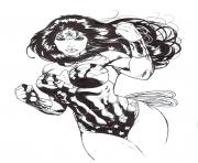Coloriage wonder woman pour adulte ink par saruxaxa dc comics