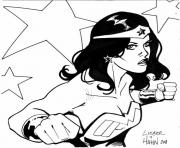 Coloriage wonder woman par david hahn and steve liber dc comics