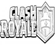 Coloriage clash royale logo officiel