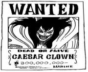 one piece wanted caesar clown dead or alive dessin à colorier