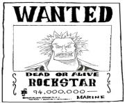 Coloriage one piece wanted rockstar dead or alive