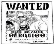 Coloriage one piece wanted sarquiss dead or alive