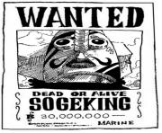 Coloriage one piece wanted sogeking dead or alive
