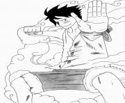 Luffy Gear 2 onepiece dessin à colorier