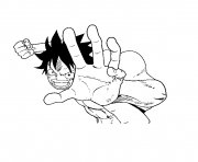 Coloriage combat luffy onepiece