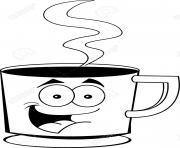 Coloriage tasse de cafe espresso dessin