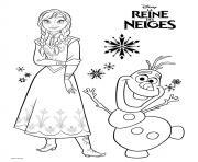 frozen anna et olaf aventure reine des neiges dessin à colorier