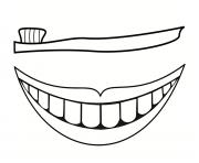 Coloriage des dents dessin