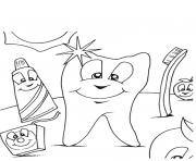 Coloriage dentiste dessin