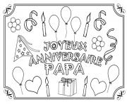 Coloriage bonne fete papa train large dessin