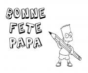 Coloriage fete des peres bart simpsons