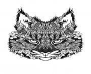 dessin difficile adulte loup zen dessin à colorier