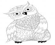 Magnifique Hibou Chouette Adulte Animaux par Dinett dessin à colorier