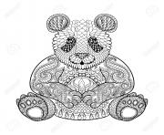 Coloriage panda adulte animaux zentangle difficile