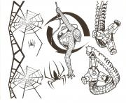 Coloriage spiderman spiders