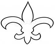 fleur de lis nouvelle orlean dessin à colorier