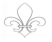 Fleur de lis France Quebec New Orlean dessin à colorier