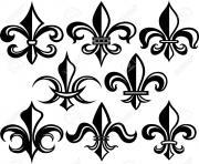 Coloriage fleur de lis france louisiana quebec gothic traditional art deco dessin