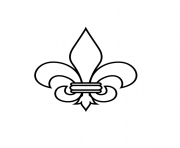 Coloriage fleur de lis france louisiana quebec gothic traditional art deco dessin
