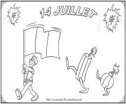 Coloriage 14 juillet fete nationale france