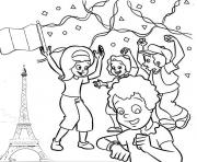 Coloriage 14 juillet france fete national