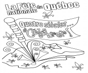 Coloriage la fete nationale du quebec celebrer quatre siecles
