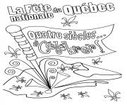 la fete nationale du quebec celebrer quatre siecles dessin à colorier