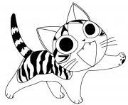 chat chi etonne dessin à colorier