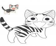 chat chi vie de chat dessin à colorier