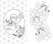 chat chi ze colorie planche dessin à colorier