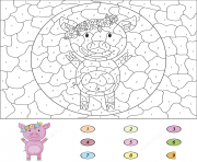 Coloriage cartoon pig magique