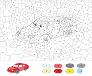 Coloriage cartoon car magique