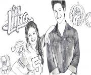 Coloriage soy luna facile a colorier