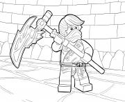 Coloriage LEGO Ninjago Cole Tournament of Elements