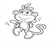 singe de dora lexploratrice dessin à colorier