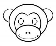 Coloriage petit singe sur un arbre dessin