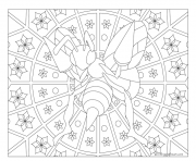 Coloriage pokemon mandala adulte Beedrill