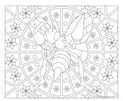 pokemon mandala adulte Beedrill dessin à colorier