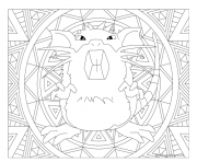 Coloriage pokemon mandala adulte Raticate