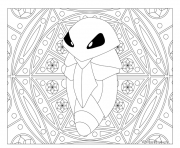 Coloriage pokemon mandala adulte Kakuna