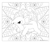 Coloriage pokemon mandala adulte Rattata