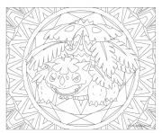 pokemon mandala adulte Venusaur dessin à colorier