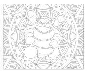 pokemon mandala adulte Blastoise dessin à colorier
