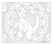 pokemon mandala adulte Charmeleon dessin à colorier